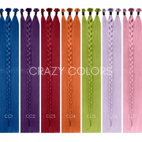 Crazy-Color Bonding Extensions | SILVER SERIES - VOLUMISTA | 100% Echthaare
