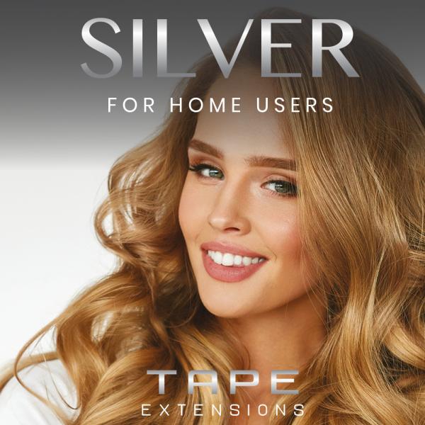 Silver Series - 2,5g Tape Extensions - 10 Strähnen - 100% Echthaare - 45-55 cm